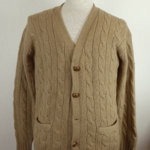 Polo Vintage Camelhair Cardigan Sweater L